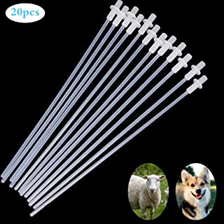 Together-life 20 Pcs 10'' Disposable Artificial Insemination Rods Tube for Dog Goat Sheep Breed Rod Test Tube