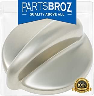 WB03K10303 Surface Burner Control Knob for GE Stoves, Chrome Finish by PartsBroz - Replaces Part Numbers AP4980246, 1810427, AH3486484, EA3486484, PS3486484, WB03K10208