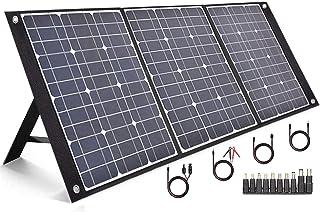 TISHI HERY 100W 18V 5.6A ソーラーパネル ソーラーチャージャー PD60W TYPE-C/QC3.0/DC/USB 4ポート出力 2M長いDCケーブル×4 10DCアダプター ポータブル電源各種対応 太陽光発電 急速充電...