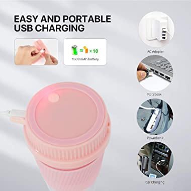 Portable Blender, Mini Blender for Shakes and Smoothies, Personal Blender with Rechargeable USB, 10OZ Smoothie Blender Cup BP