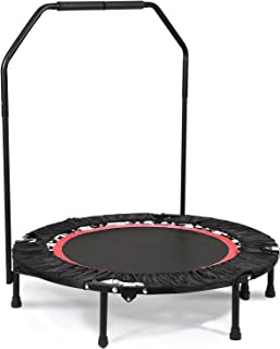 ANCHEER Foldable 40 Mini Trampoline Rebounder, Max Load 300lbs Rebounder Trampoline Exercise Fitness Trampoline for Indoor/Garden/Workout Cardio