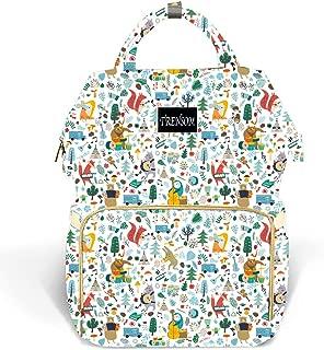 Cute Baby Diaper Bag Large Waterproof Fox Backpack