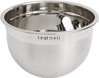 Tovolo Stainless Steel Deep Mixing Kitchen Metal Bowls for Baking & Marinating, Dishwasher-Safe, 1.5 Quart