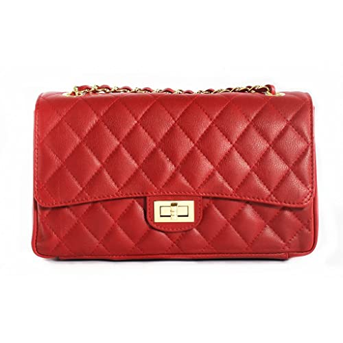 Red Quilted Bags: Amazon.co.uk