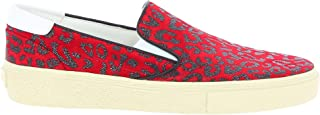 SAINT LAURENT Women's 365507BV7006561 Red Leather Slip On Sneakers