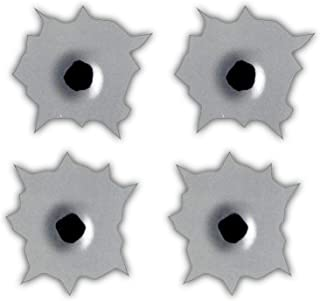 Bullet Holes Sticker Decal (Set of 4) Each Sticker is 2x2 inches