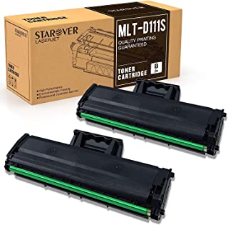 STAROVER Compatible Toner Cartridge Replacement for Samsung MLT-D111S Work with Samsung M2020w M2020 M2022w M2070w M2070fw M2070 Printer(Black, 2-Pack)