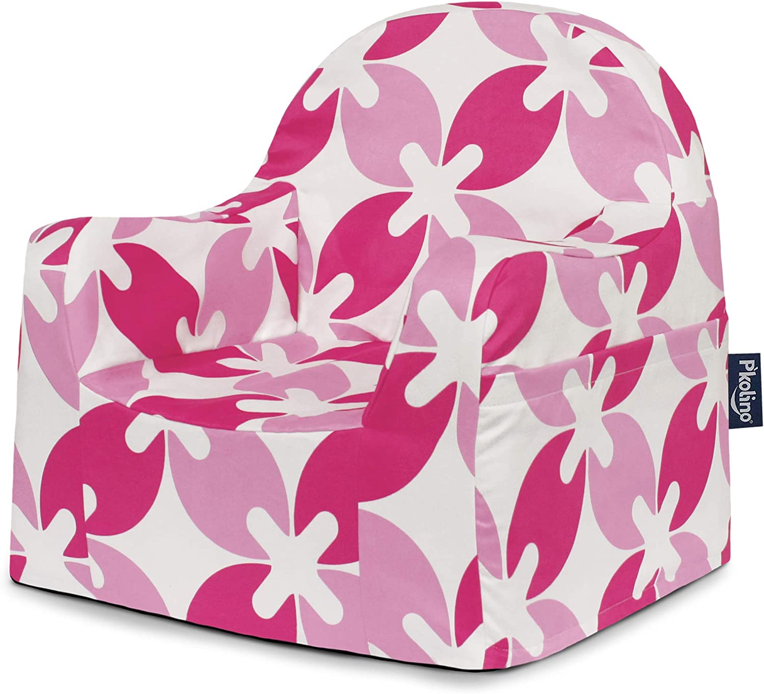 P'kolino PKFFLRPL Little Reader Chair - Pink White Leaves