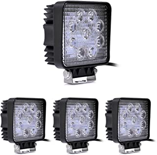 4 X LED 27W Offroad Flutlicht Reflektor Scheinwerfer Arbeitslicht SUV, UTV, ATV Arbeitsscheinwerfer Zusatzscheinwerfer Offroad Scheinwerfer 12V 24V Rückfahrscheinwerfer [Energieklasse A+]