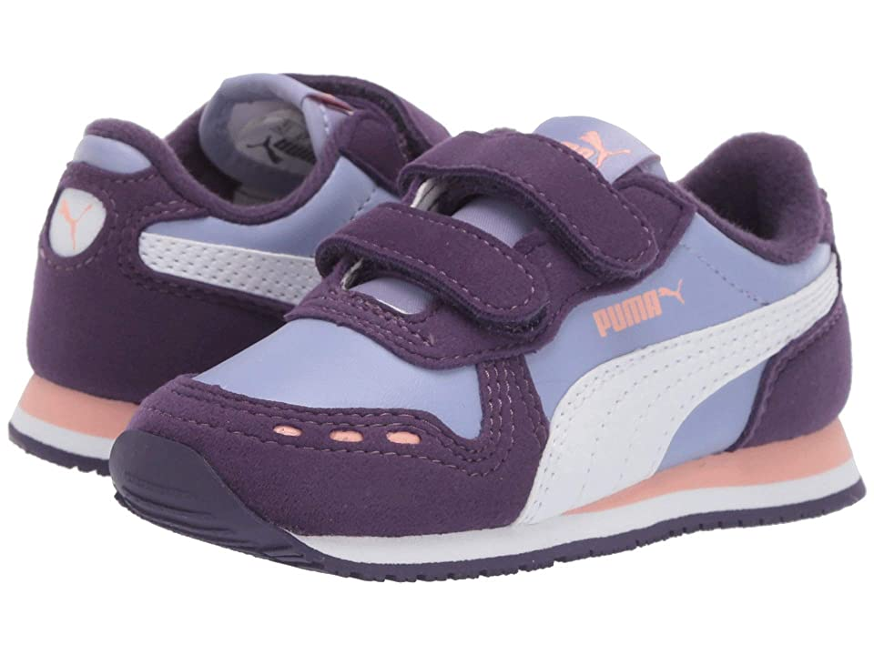 Puma Kids Cabana Racer SL Velcro (Toddler) (Sweet Lavender/Indigo/Puma White) Girls Shoes