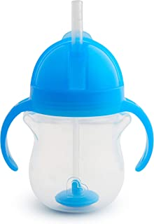 Munchkin Click Lock Weighted Straw Cup, 7 Ounce, Blue, Pack of 1