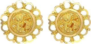 Popleys 22k (916) Yellow Gold Stud Earrings