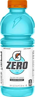 Gatorade Zero Sugar Thirst Quencher, Glacier Freeze, 20 Fl Oz (Pack of 12)