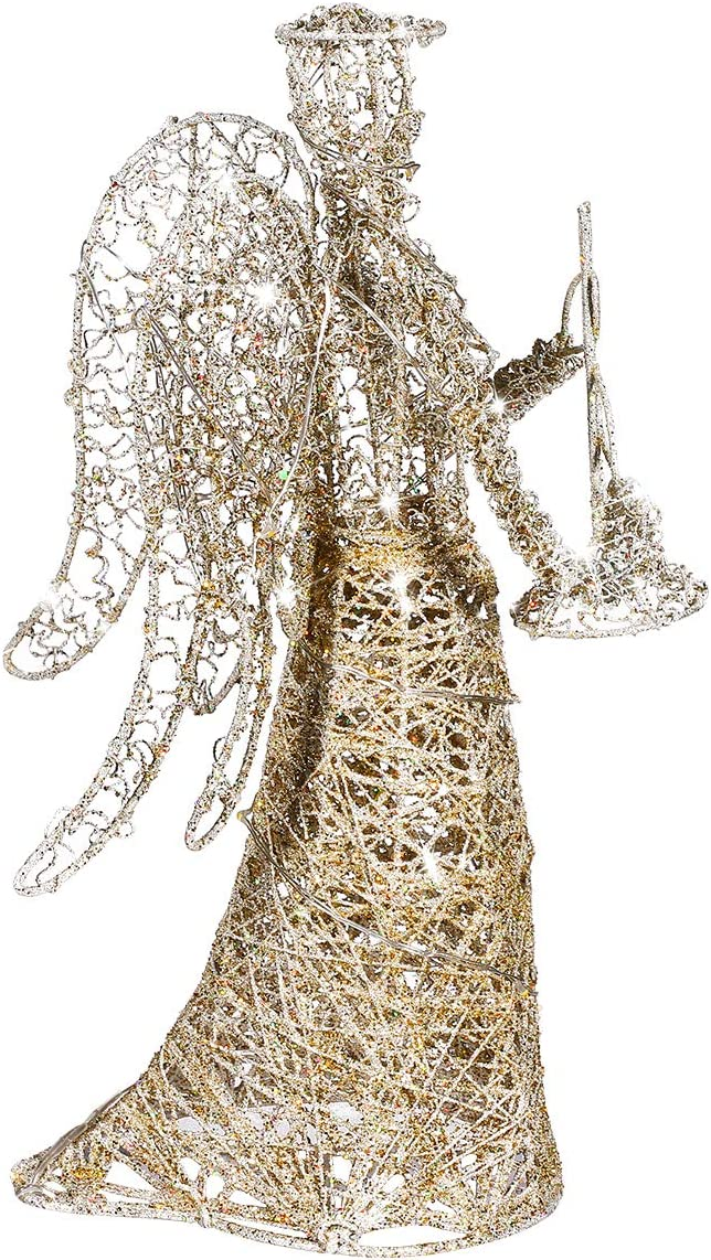 ABOOFAN New life Angel Courier shipping free shipping Christmas Tree Topper Glitter Treet Gold