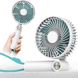 携帯扇風機 手持ちUSB扇風機 小型 強力な風量 超静音 90度折りたたみ式卓上扇風機 手持ちで便利 3段階風量調節 熱中症 暑さ対策 オフィス アウトドア用 スポーツ観戦【2020最新改良型】 (ホワイト)
