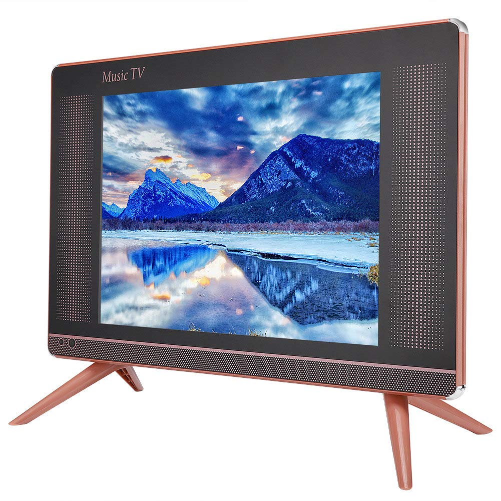 Ccylez Mini Televisor LCD DVB-T2 Portátil de 17 Pulgadas, HD TV de Alta Resolución de