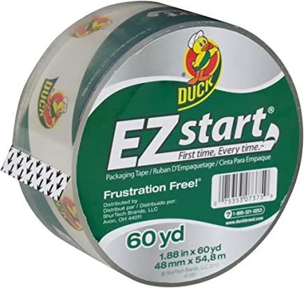Duck Brand EZ Start Packing Tape Refill, 1.88 Inch x 60 Yard, Clear,