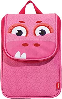 """ZIPIT Wildlings Backpack for Children, Green Lunch Bag 7.8""""x4.5""""x10.4"""" Pink"""