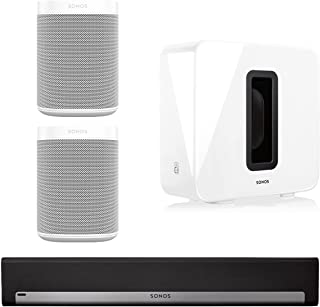 Sonos 5.1 Surround Set - Home Theater System with Playbar, Sub and 2 Sonos Ones