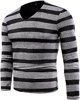 Goosuny Gestreifter Pullover Mit V Ausschnitt Herren Strick