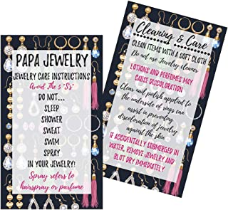Jewelry Cleaning and Care Instruction Cards | Pack of 50 | MLM Marketing Business Cards