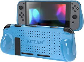 YCCTEAM Protective Case for Nintendo Switch, Heat Dissipation Comfortable Soft Shockproof Handheld Cover Grip Case Silicone Gel Rubber Full Body Protector for Gamepad Mode (Blue)