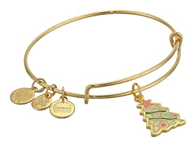 Alex and Ani Color Infusion, Seashell Christmas Tree Bangle Bracelet (Shiny Gold) Bracelet