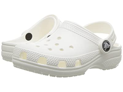 Crocs Kids Classic Clog (Toddler/Little Kid) (White) Kids Shoes