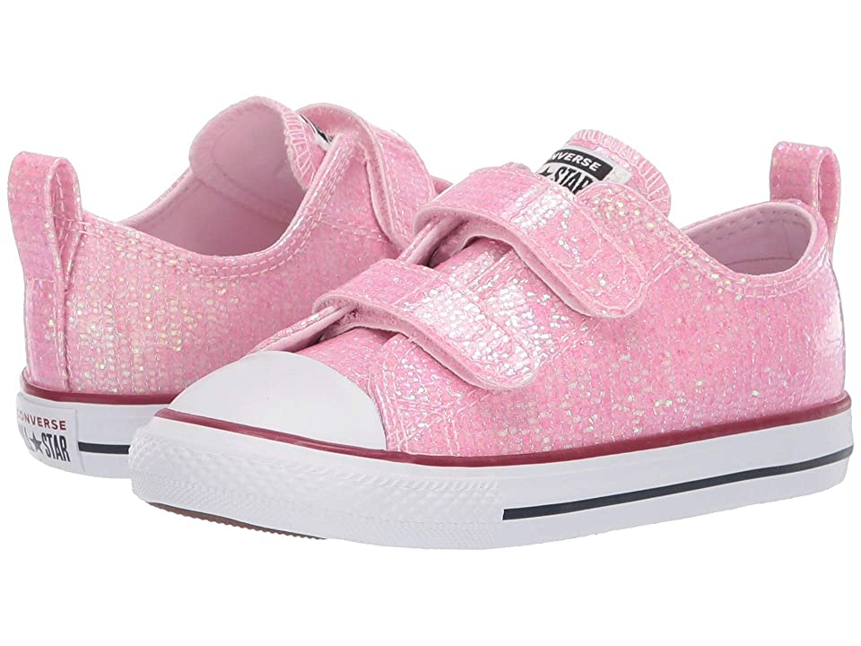 9917771b06aa Converse Kids Chuck Taylor All Star 2V Sparkle Ox (Infant Toddler) (Pink