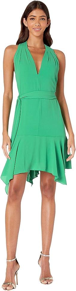 Sleeveless V-Neck Dress w/ Sash