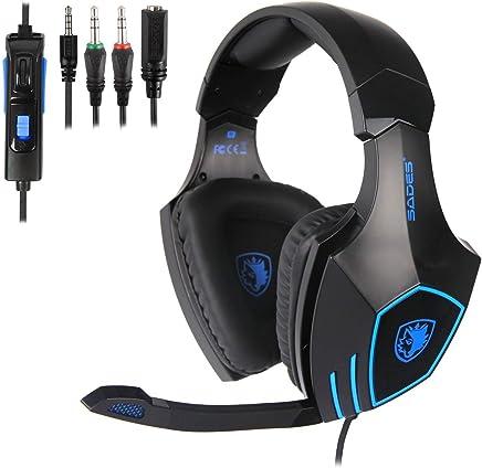 Cuffie Gaming, SADES SA819 Gaming Headsets Cuffie Gaming Cuffie Da Gaming per PC Xbox One PS4, Cuffie da Gioco Stereo con Microfono - Trova i prezzi più bassi