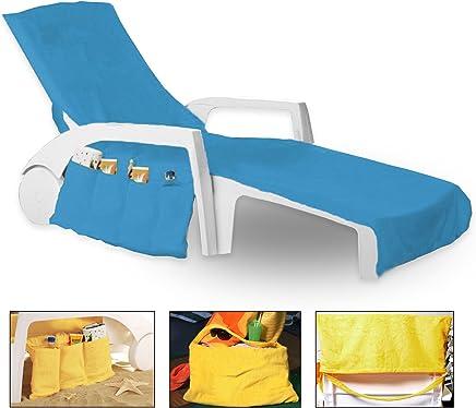 75 x 215 cm chengsan Strandliege Sitzbezug Liege Mate Strandtuch Sonnenliege f/ür Urlaub Garten Lounge mit Taschen 10 29.5 x 84.6 inches