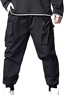 XYXIONGMAO Streetwear Techwear Hip Hop Cargo Pants for Men Loose Sports Overalls for Teenagers Plus Size Casual Trousers