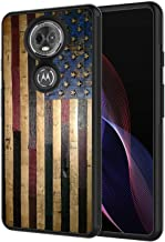 Moto G6 Play Case, Moto E5 Case,AIRWEE Slim Shockproof Silicone TPU Back Protective Cover Case for Motorola Moto G6 Play,American Flag on Wood