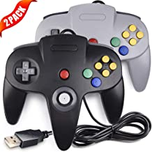 LUXMO N64 Controller,Upgraded Classic USB N64 Game Controller Wired N64 Gamepad Joystick Joypad for Retro N64 Video Console Games PC Mac Raspberry pi3 Genesis Higan Retro Pie-2 pack