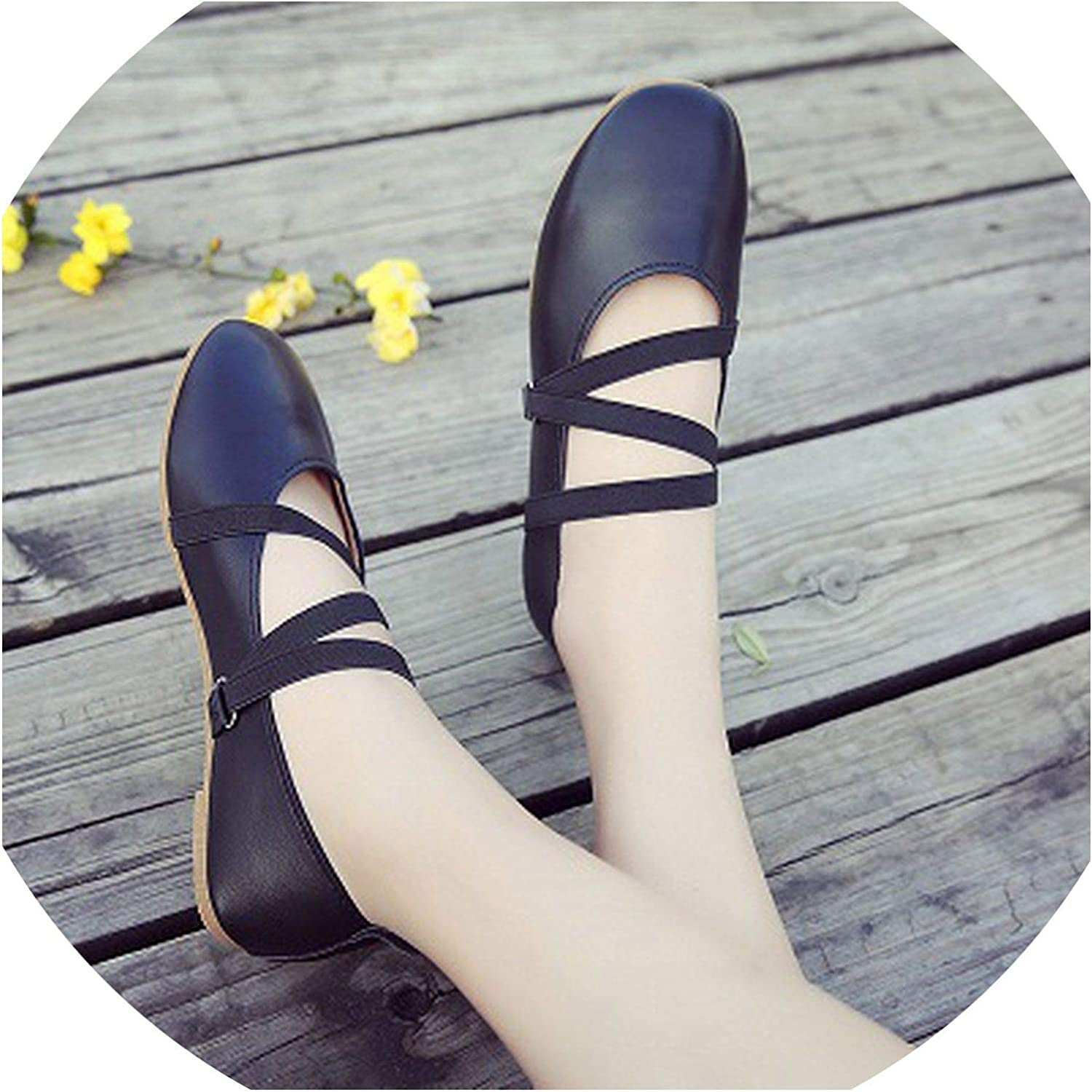 FAT BABY Peas shoes Female Spring 2019 New Mori Girl shoes Flat Shallow Mouth shoes strapshoes