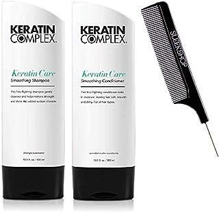 (400ml - ORIGINAL DUO KIT) - Keratin Complex KERATIN CARE Smoothing Shampoo & Conditioner DUO SET (w/Sleek Comb) Frizz-Fig...
