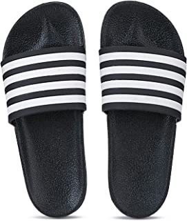 Shoefly Black-11035 Latest Collection of Casual Flip Flop Slides Slippers for Men
