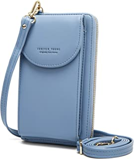 YAVCOOL Small Crossbody Bag Cellphone Purse Wallet with Credit Card Slots for Women Roomy Shoulder Bag
