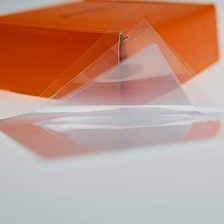 FEP Transparent Zero Transfer Sheets - 4''x 4'' (500 Sheets) Premium Version