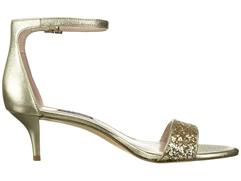 Multi Metálico Nine West Leisa Gold Light Heel Sandal gnn07CYwq