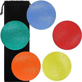SourceTon Fidgets - Pelotas de alivio del estrés, forma redonda, para fortalecer la mano, el dedo y el agarre, ideal para rehabilitación física y fortalecedor de agarre, 5 unidades