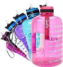 """QuiFit Drinkfles van 2,2 liter, met opdruk: """"Drink Stichtung"""" en flipstro, grote drinkfles, fitness, gym, onderweg joggen,..."""