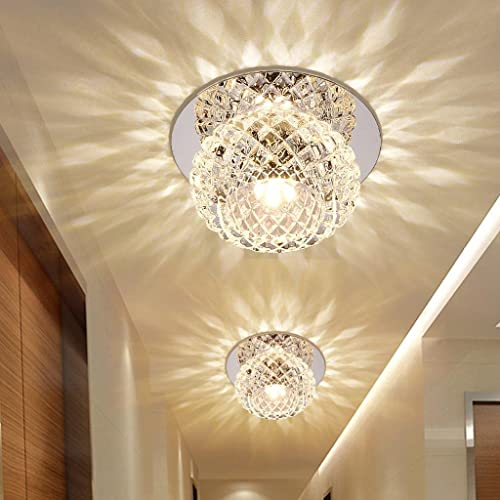 5W LED Modern Flush Mount Lighting Ceiling And Wall Light Spots Crystal  Round Ceiling Lamp For