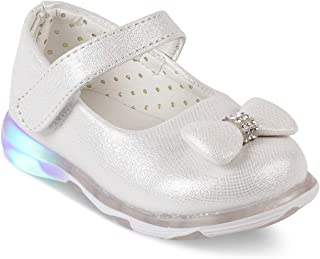 KITTENS Girls Silver Mary Jane Shoes