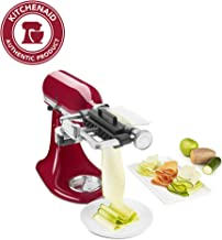 KitchenAid KSM2SCA Stand Mixer Attachments VEGETABLE SHEET CUTTER WITH NOODLE BLADE, One Size, Stainless Steel