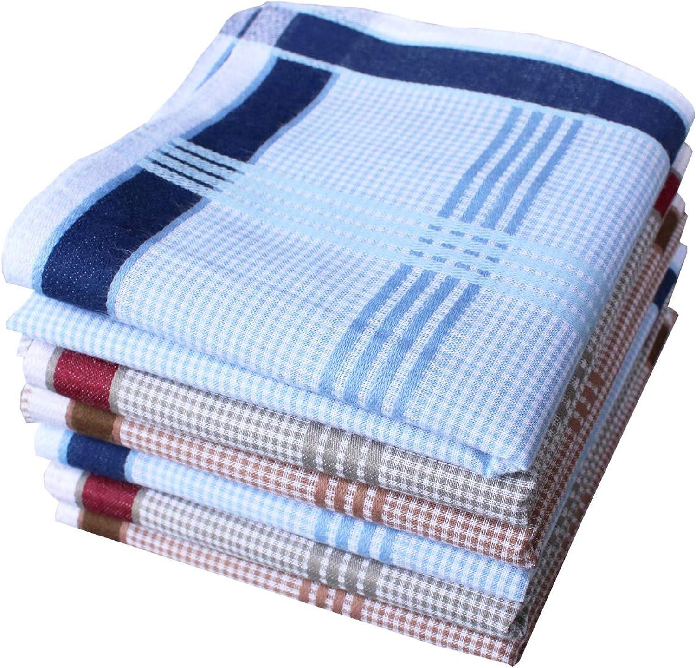 Men's Cotton Handkerchief Classic Striped New color OFFicial shop Pocket Handkerchiefs S