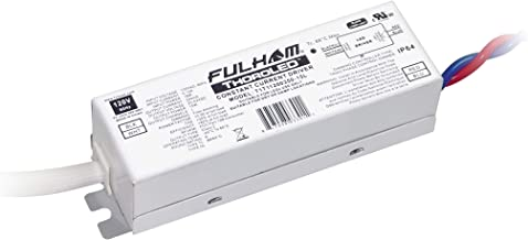 Fulham Lighting T1T11200350-15L ThoroLED-Single Channel-Triac Driver-120V Input-350mA Constant Current Output-Max 15W-ROHS Compliant-Linear Case-IP64 Dimming LED Driver