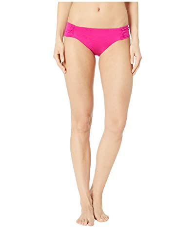 Trina Turk Getaway Solids Shirred Side Hipster Bottoms (Berry) Women
