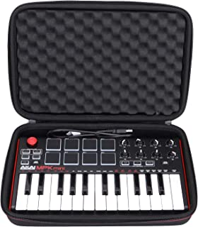 LTGEM EVA Hard Case for Akai Professional MPK Mini MKII | 25-Key Ultra-Portable USB MIDI Drum Pad & Keyboard Controller (b...